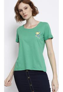 Blusa Com Decote Arredondado - Verde & Amarela - Malmalwee