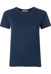 Acne Studios Camiseta Baby Look - Azul