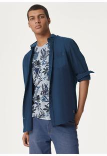 Camiseta Masculina Mangas Curtas Estampada