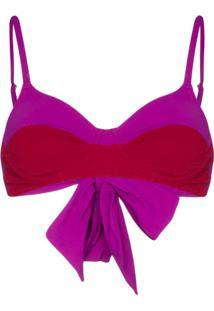 Araks Yelena Two-Tone Bikini Top - Roxo