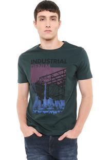 Camiseta Calvin Klein Jeans Estampada Verde