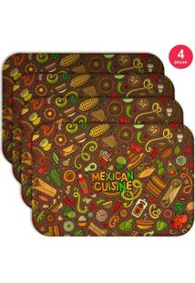 Jogo Americano Love Decor Wevans Mexican Cuisine Kit Com 4 Pçs