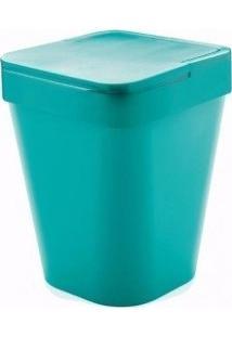 Lixeira Azul Com Tampa Capacidade 5 L De Polipropileno