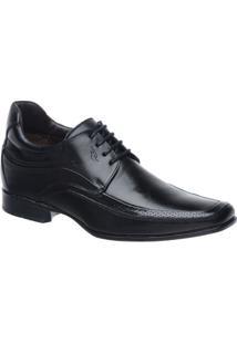 Sapato Rafarillo Linha Alth Você + Alto 7Cm 3206 Com Cadarço - Masculino-Preto