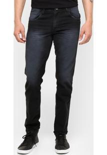 Calça Jeans Skinny Preston Estonada Black Masculina - Masculino-Jeans