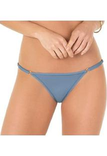 Calcinha String Laterais Reguláveis Proteção Permanente 2 Rios - Feminino-Azul