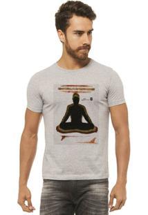 Camiseta Joss - Buda Pranchas - Masculina - Masculino-Mescla
