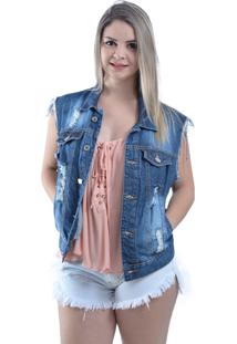 Colete Lady Rock Mill Jeans Azul