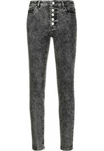 Michael Michael Kors Calça Jeans Skinny Com Lavagem - Preto
