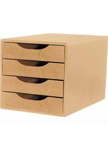 Gaveteiro Módulo Para Easy Box 4 Gavetas Natural Souza