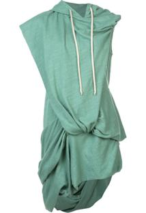 Rick Owens Drkshdw Blusa De Moletom Oversized Assimétrica - Verde