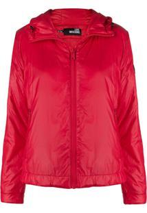 Love Moschino Hooded Technical Jacket - Vermelho