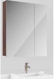 Espelheira Para Banheiro 65Cm 2 Portas Castaine Liliesmóveis