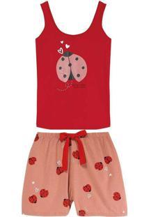 Pijama Feminino Curto Malwee 1000085622 02226-Verm