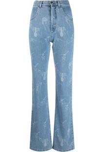 Seen Users Calça Jeans Flare Com Detalhe De Laço - Azul