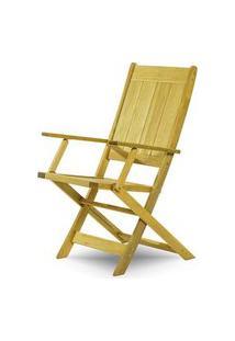 Cadeira Retangular Dobravel Acqualung+ C/ Braco Estrutura Amarelo 99Cm - 61641 Amarelo