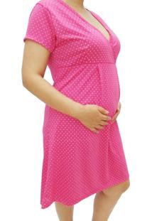 Camisola Manga Curta Gestante E Maternidade Em Poá Linda Gestante