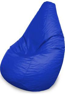 Puff Perão Em Courino Azul Royal