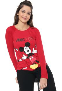 Blusa Cativa Disney Mickey Mouse Vermelha
