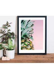 Quadro Decorativo Com Moldura Pineapple Pink