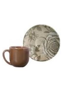 Conjunto C/ 6 Xicaras De Cafe C/ Pires Coup Sepia 112Ml