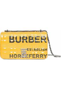 Burberry Bolsa Lola Pequena Matelassê Estampada - Amarelo