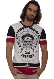 Camiseta King Joy Estampa New Branco