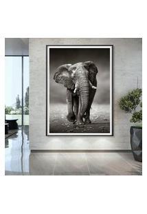 Quadro Com Moldura Chanfrada Elefante Grande