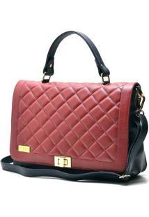 Bolsa Hendy Bag Com Tampa Matelassê - Feminino-Azul