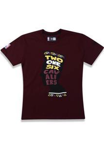 T-Shirt New Era Regular Cleveland Cavaliers Mescla Vinho