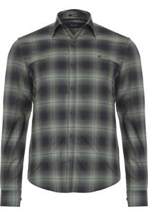 Camisa Masculina Jord Check Classic French - Verde