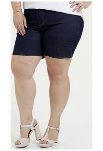 b1f169aa2 ... Bermuda Feminina Jeans Cintura Alta Plus Size Marisa