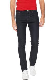 cabc085cd193c ... Calça Jeans Rock Blue Reta Pespontos Azul-Marinho