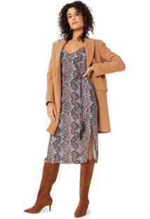 Vestido Midi Alcinha Amarração Com Tassel