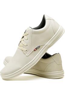 Sapatênis Sapato Casual Cr Shoes Com Cadarço 1510M Areia Bege