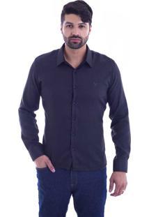 Camisa Slim Fit Live Luxor Preto 2112 - Gg