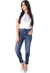 Calça Jeans Skinny Operarock Feminina - Feminino-Azul