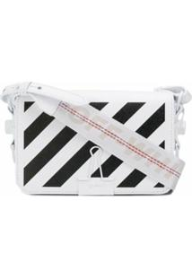 Off-White Bolsa 'Diagonal Binder' Mini - Branco