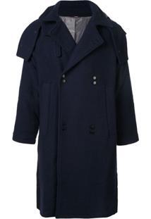 Indice Studio Trench Coat Com Abotoamento Duplo - Azul