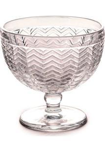Taça Para Sobremesa Wave Vidro 185Ml 10Cm Transparente