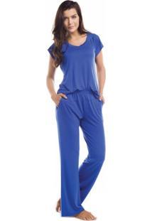 Pijama Inspirate Liso Azul