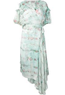 Preen By Thornton Bregazzi Vestido Floral Assimétrico - Verde