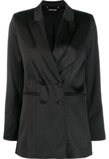 Styland Double Breasted Blazer - Preto