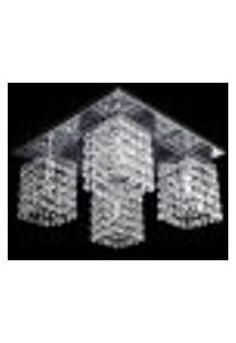 Lustre Cristal Legitimo Plafon Quadrado 30X30X15Cm - Jp/Toyota/30