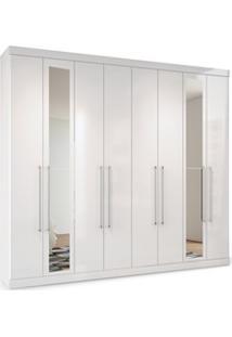 Guarda Roupa Casal Master 8.4 8 Portas E Espelho Branco - Santos Andir