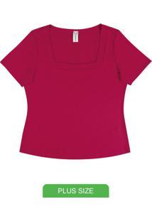 Blusa Feminina Decote Quadrado Vermelho