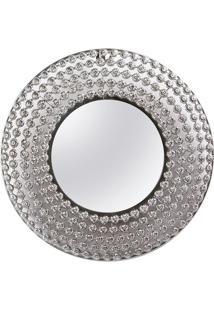 Espelho Ornamentado Com Moldura- Prateado- 38X38X2,5Decor Glass