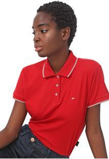 Camisa Polo Ellus Listras Vermelha