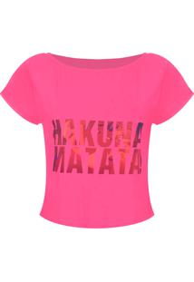 Camiseta Outletdri T-Shirt Estampa Hakuna Rosa