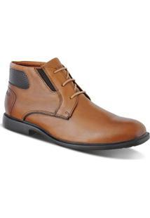 Sapato Allure Soft Casual Masculino - Masculino-Marrom